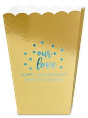 Confetti Dots Our Love Mini Popcorn Boxes