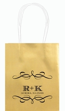 Courtyard Scroll with Initials Mini Twisted Handled Bags