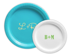 Large Initials Paper Plates