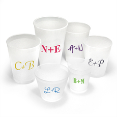 Large Initials Shatterproof Cups