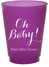 Elegant Oh Baby Colored Shatterproof Cups