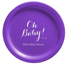 Elegant Oh Baby Paper Plates