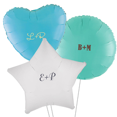 Large Initials Mylar Balloons