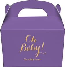 Elegant Oh Baby Gable Favor Boxes