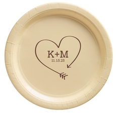 Heart Made of Arrow Paper Plates