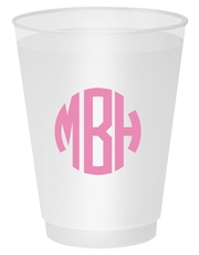 Rounded Monogram Shatterproof Cups