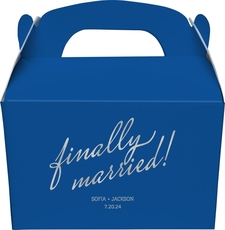 Expressive Script Finally Married Large Favor Boxes
