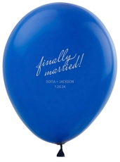 Expressive Script Finally Married Latex Balloons