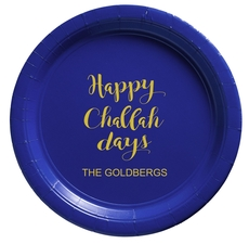Happy Challah Days Paper Plates