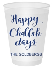 Happy Challah Days Shatterproof Cups