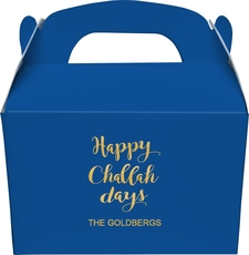 Happy Challah Days Large Favor Boxes