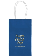 Happy Challah Days Medium Twisted Handled Bags