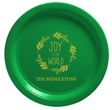 Joy to the World Wreath Paper Plates
