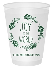 Joy to the World Wreath Shatterproof Cups