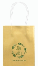 Joy to the World Wreath Mini Twisted Handled Bags