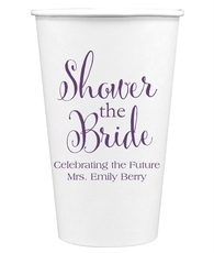 Shower The Bride Paper Coffee Cups