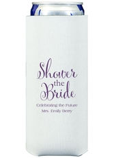 Shower The Bride Collapsible Slim Koozies