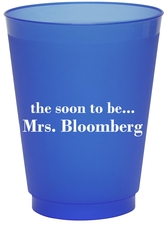 Soon to be Mrs Colored Shatterproof Cups