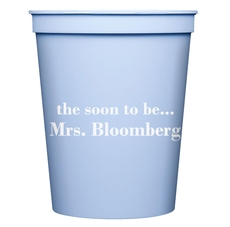 Soon to be Mrs Stadium Cups
