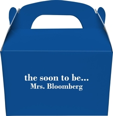 Soon to be Mrs Gable Favor Boxes