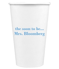 Soon to be Mrs Paper Coffee Cups
