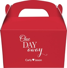 One Day Away Gable Favor Boxes