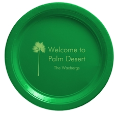 Palm Tree Silhouette Paper Plates