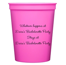 Whatever Happens Party Stadium Cups