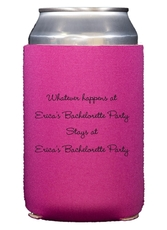 Whatever Happens Party Collapsible Koozies