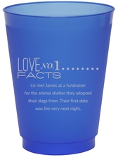 Just the Love Facts Colored Shatterproof Cups