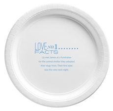 Just the Love Facts Paper Plates