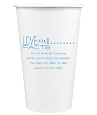 Just the Love Facts Paper Coffee Cups