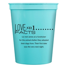 Just the Love Facts Stadium Cups