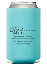 Just the Love Facts Collapsible Koozies