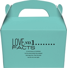 Just the Love Facts Gable Favor Boxes