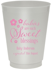 Sweet Blessings Colored Shatterproof Cups