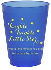 Twinkle Twinkle Little Star Colored Shatterproof Cups