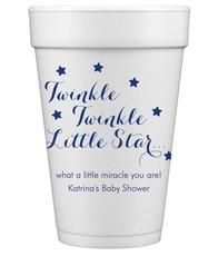 Twinkle Twinkle Little Star Styrofoam Cups