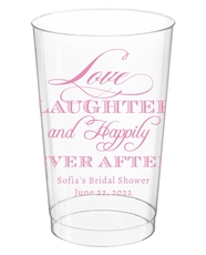 Love Laughter Ever After Clear Plastic Cups