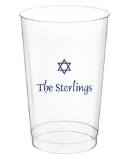 Little Star of David Clear Plastic Cups
