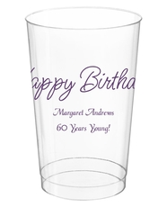 Perfect Happy Birthday Clear Plastic Cups