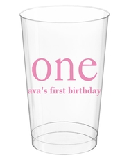 Big Number One Clear Plastic Cups