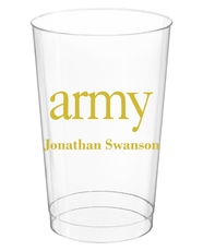 Big Word Army Clear Plastic Cups
