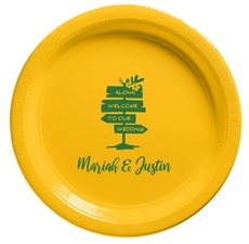 Aloha Welcome To Our Wedding Paper Plates