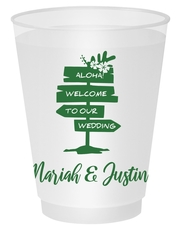 Aloha Welcome To Our Wedding Shatterproof Cups