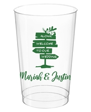 Aloha Welcome To Our Wedding Clear Plastic Cups