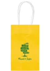 Aloha Welcome To Our Wedding Medium Twisted Handled Bags
