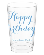 Darling Happy Birthday Clear Plastic Cups