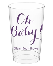 Elegant Oh Baby Clear Plastic Cups