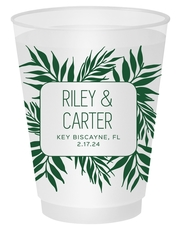 Palm Leaves Shatterproof Cups